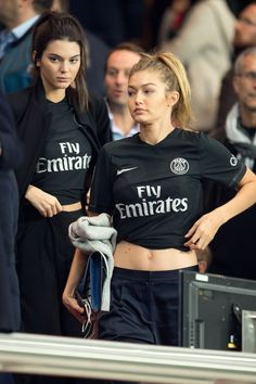 Kendall Jenner And Gigi Hadid At Football In Paris | News | Grazia Daily