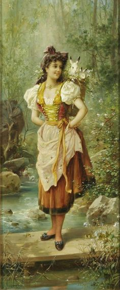 "HANS ZATZKA ""Girls in Native Dress"" 