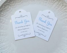 Baptism Favor Tag Personalized Gift Tags or by SandpiperPress