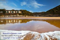 """Caswell Bay by Dan Santillo. """"To get this photograph, I was crouched down in the sea with the camera on the tripod, not far from the water. Despite wearing wellies, I still ended up with boots full of water! Buy Photos, Bays, Lifeguard, Nature Reserve, Tripod, Fathers, Acre, Landscape Photography, Woodland"""