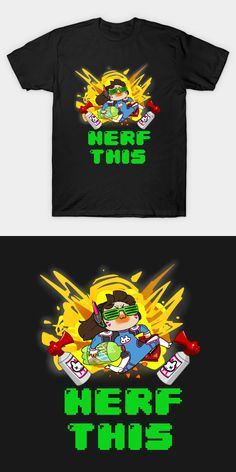 Dorito Gremlin D.Va Overwatch T Shirt | This is a fan-made cartoon caricature of the playable character from an FPS game. Portrayed as a sterotypical gamer, Gremlin D. Va eats Doritos and drinks Mountain Dew. The slogan on the shirt says 'NERF THIS'. | Memes | Visit http://shirtminion.com/2016/07/dorito-gremlin-d-va-overwatch-t-shirt/