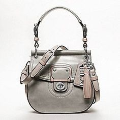 The Coach Leather Colorblock Small New Willis