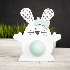 bunny lip balm Holder   a non-sweet Easter gift idea (Silhouette project)