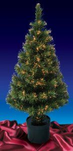 5' Pre-Lit Color Changing Fiber Optic Artificial Christmas Tree - Multi Lights by DAK. $94.99. 5 Foot Pre-Lit Fiber Optic Artificial Christmas TreeItem #0326-150Be the talk of the town with this lovely forest green fiber optic Christmas treeFeatures:200 branch tipsPre-lit fiber optic tree has a multi-color wheel at base Fiber optic colors include: red, green, amber, purple, blue and whiteComes with a decorative black plastic potMedium profile tree2-piece easy ...