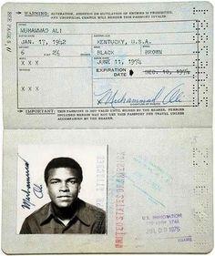 15 Vintage Celebrity Passports   Mental Floss - Muhammad Ali Katharine Hepburn, Audrey Hepburn, Mohamed Ali, Ella Fitzgerald, Virginia Woolf, Janis Joplin, Michael Hutchence, Roy Orbison, George Foreman