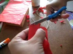 """This is a little """"tutorial"""" on how to make Mexican Papel Picado banners with tissue paper. I think this is a very nice, cheap and easy way to brighten up and decorate for any occasion, enjoy!"""