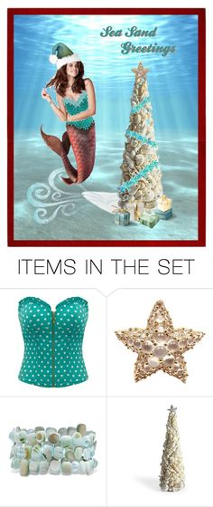 """Sea Sand Greetings"" by kbarkstyle ❤ liked on Polyvore featuring art"