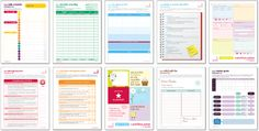 Free Printable Home Organization Forms from Buttoned Up