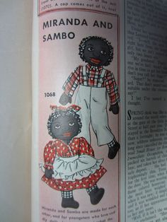 Vintage ad for Miranda and Sambo dolls