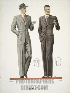 Fashion , 20th century . Mens clothing , 1938 . stock photo