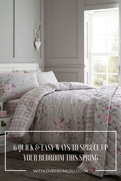 6 Quick & Easy Ways to Spruce Up Your Bedroom This Spring: http://withlovefromlou.co.uk/2017/04/spring-bedroom/