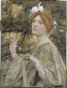Jeanne Job-Bardou, La femme à l'orchidée, 1900, musée d'Orsay