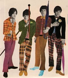 """theswinginsixties: """"The Kinks, 1966 """" Music Pics, My Music, 1960s Style Makeup, Dave Davies, Psychedelic Fashion, The Kinks, Dedicated Follower Of Fashion, Vinyl Music, Band Posters"""