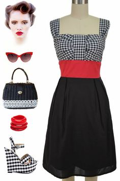 What's black, white and red all over? Our new dress at Le Bomb Shop, that's what! Gingham and colorblock never looked so dang cute together... AND its only $34 with FREE U.S. s/h! Find them here at Le Bomb Shop: http://lebombshop.net/collections/clothing-shoes-accessories-womens-clothing-dresses-1/products/black-white-and-red-all-over-pinup-sun-dress-gingham-colorblock