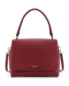 Patty Medium Leather Shoulder Bag, Bordeaux US$2,385