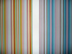 Exclusive striped wallpaper made in the UK exclusively for The Stripes Company designed as a statement wallpaper UK Wallpaper Uk, Striped Wallpaper, Roman Blinds, Curtains With Blinds, Beautiful Blinds, Roller Blinds, Striped Fabrics, Yellow, Blue