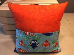 Nemo & Dory Pocket Pillow by thescrappyquilter22 on Etsy