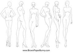 Fashion Illustrations Croquis fashion illustration croquis — brownpaperbunny
