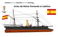 Perfiles navales.Aviso de Helice Fernando el católico 1874