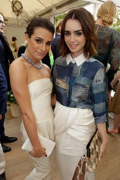 With Lily Collins at the 2013 CFDA/Vogue Fashion Fund Event in LA