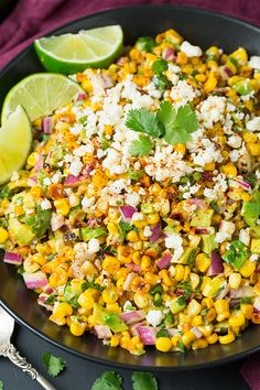 Mexican Street Corn Salad with Avocado by @cookingclassy
