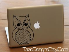 Olly the Owl Decal - Apple Macbook Vinyl Sticker Decal, Car Window Decal, Woods, Forest Animal