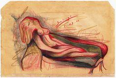 Bernardo Santiago Angeles - femme sur un canapé II