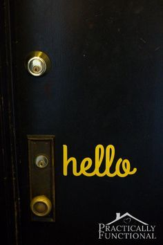 Welcome guests who pass by your front door with this DIY