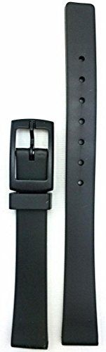 12mm Black Rubber Watch Band -- Comfortable and Durable PVC Material. QUALITY REPLACEMENT BAND: This watchstrap perfectly balances fresh fashion with feasible function. Made of durable PVC material, this band will instantly bring new life to your watch. Try this stylish look today!. DIMENSIONS FOR BEST FIT: Fitness is key, so to find the optimal fit for your watch, make sure to measure your watch's exact lug width or the spring bars/pins will not fit. You may also consider searching…