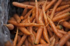 Carrots  Carrots are rich in beta carotene, which the body turns into vitamin A. When it comes to your hair, vitamin A helps produce scalp-sustaining oils, according to WebMD.