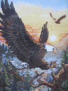 Dimension Gold Collection Petites Bald EAGLES Cross Stitch Kit  #Dimensions #GoldPetites