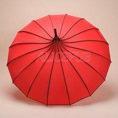 Wedding Umbrella, Bridal Parasol, Pagoda Umbrella, Red Bridal Umbrella, Wedding Photo Props, Bridesmaid Umbrella, Rain Umbrella BTS12A-04
