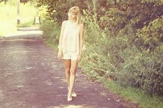 Get this look (blouse, shorts) http://kalei.do/X2qSlz2Tc2ErzCBj