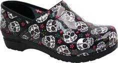 Sanita Professional Sid women's clogs (Multicolor) Great for Dia de los Muertos!! Calaveras!