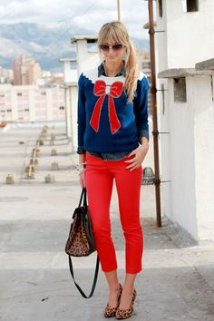 Take a Bow. The cutest sweater ever! Reminds me of Sailor Moon:-)