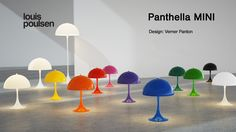 Here it's all of the Panthella MINI's from our latest campaign video. Panthella MINI is a smaller version of Verner Panton's classic Panthella lamp from 1971.