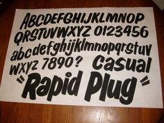 Dad's Paper Signs- Rapid Plug