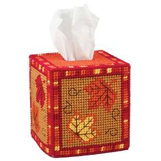 Craftways® Fall Leaves Tissue Box Plastic Canvas Kit Was: $16.00                     Now: $12.99