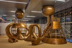 Another Tom Otterness playground (cast and fabricated by the artist), this one in Hamad International Airport,  Doha, Qatar, St. Petersburg, Russia. May 14, 2015.