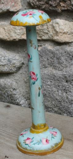 vintage painted hat stand