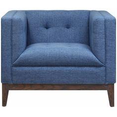 TOV Furniture Gavin Blue Linen Chair TOV-A58