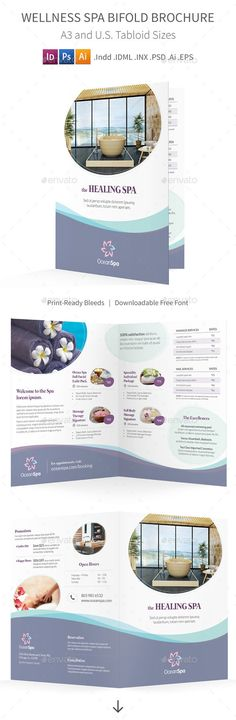 One-Fold Brochures for Education Center Colors, Texts and Brochures - half fold brochure template