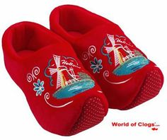 Amazon.com: Comfy Dutch Clog Slippers in Red: Shoes
