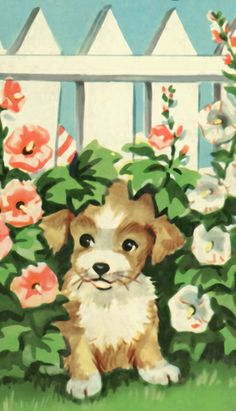 """The Hideaway Puppy""  Vintage LGB"