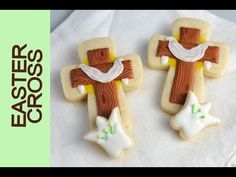 Easter Cross and Lily Cookies https://www.youtube.com/watch?v=mhP3sAAbhHE