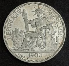 French Indochina Coins Piastre Trade Dollar silver coin