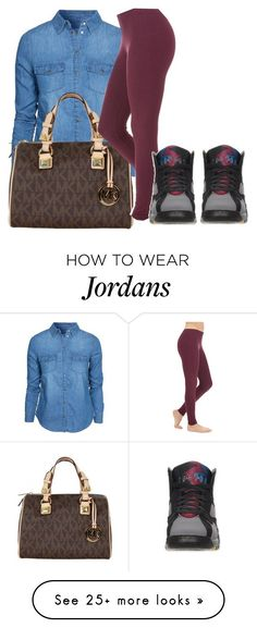"""""""Untitled #303"""" by creativetaylor on Polyvore featuring New Look, MICHAEL Michael Kors, Retrò and plus size clothing"""