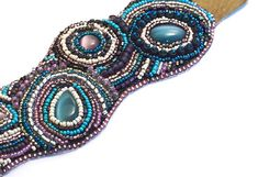 Nesoi // Bead Embroidered Cuff // Seed Beads // Beadwork //