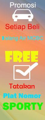 Promo Setiap Pembelian Talang Air MCBC Free Tatakan Plat Nomor Sporty   #www.mcbcvariasi.com #www.variasimobilku.com