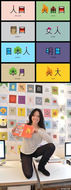 """mrcoolperson: """"ohmyasian: """"2114. Chineasy by Shao Lan Hsueh. Cute drawings to help you remember some easy chinese characters! """" Are there any more?!?!?!?!?! """""""